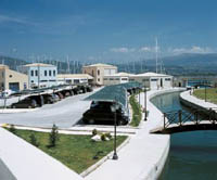 Car Parking Area for yacht charters in Lefkas Greece