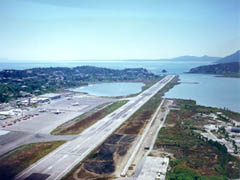 International Airport Corfu Island Charter flights yachts