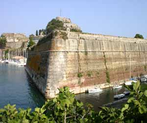 Old fortress in Kerkyra main town Greece
