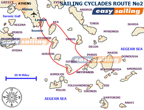 Sailing in Greece and the Cyclades islands No2