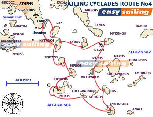 rent a yacht in the Cyclades isles Greece No4 from Lavrion 2 weeks sail