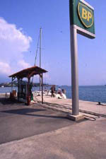 Fuel Station for yachts in Gouvia marina Ionian Greece