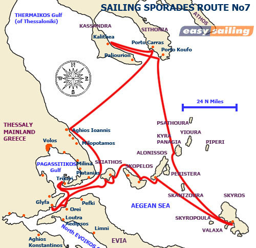 2 weeks charter Route No7 Sporades islands and Chalkidiki